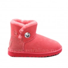 Bailey Button Mini Bling Red