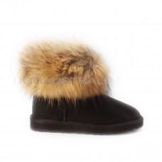 Mini Fox Fur Black