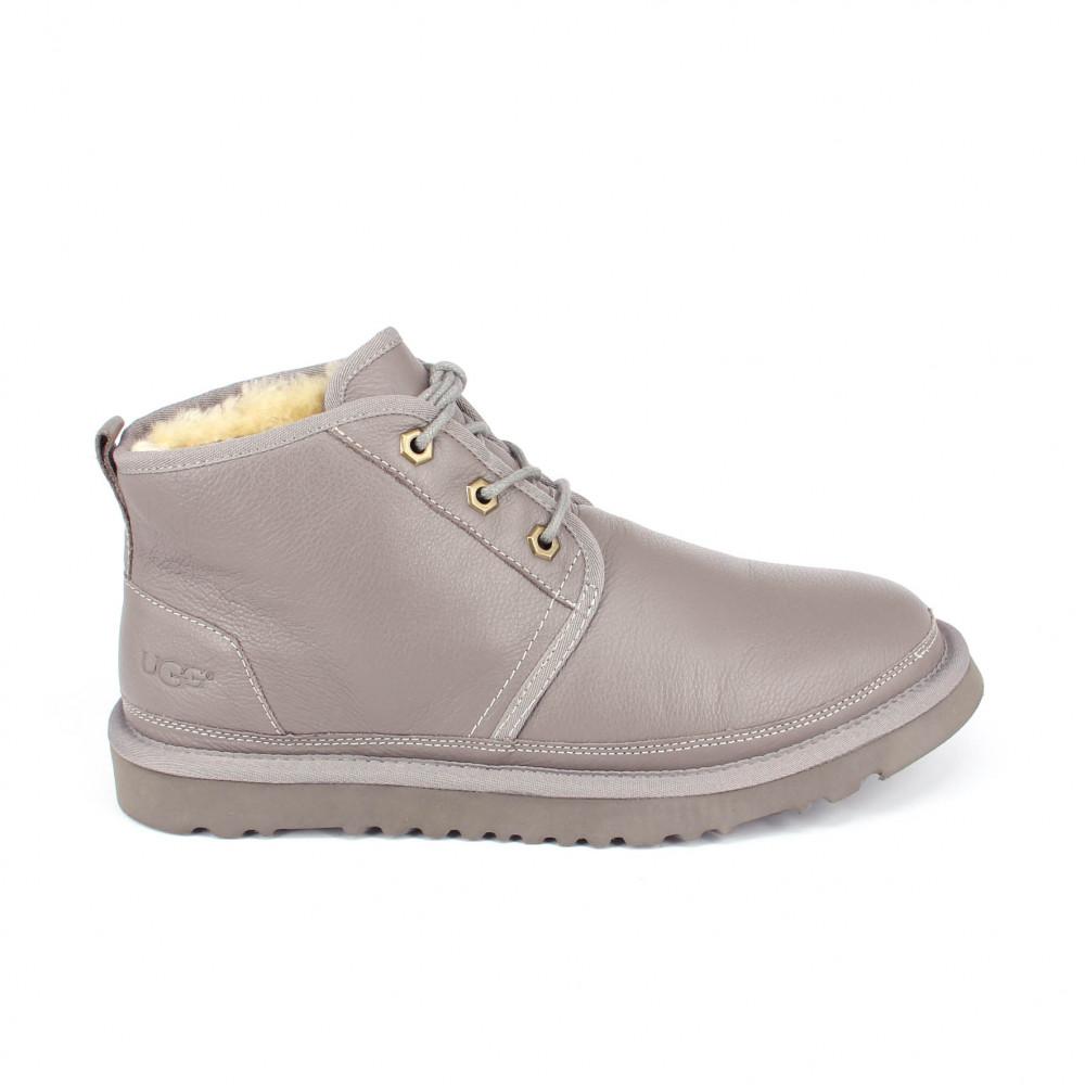Mens Neumel Leather Grey