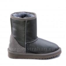 Classic Short Kids Metallic Grey R
